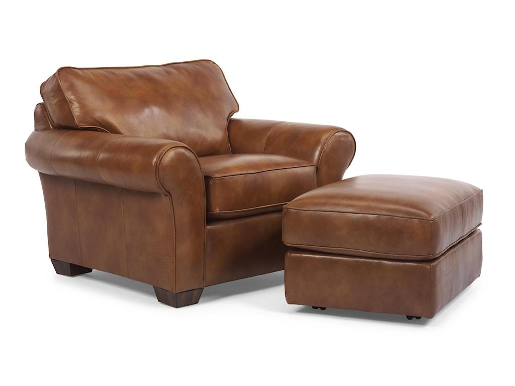 Flexsteel VailVail Chair and Ottoman