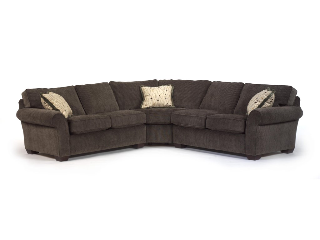Vail Corner Sectional Sofa by Flexsteel at Dunk & Bright Furniture