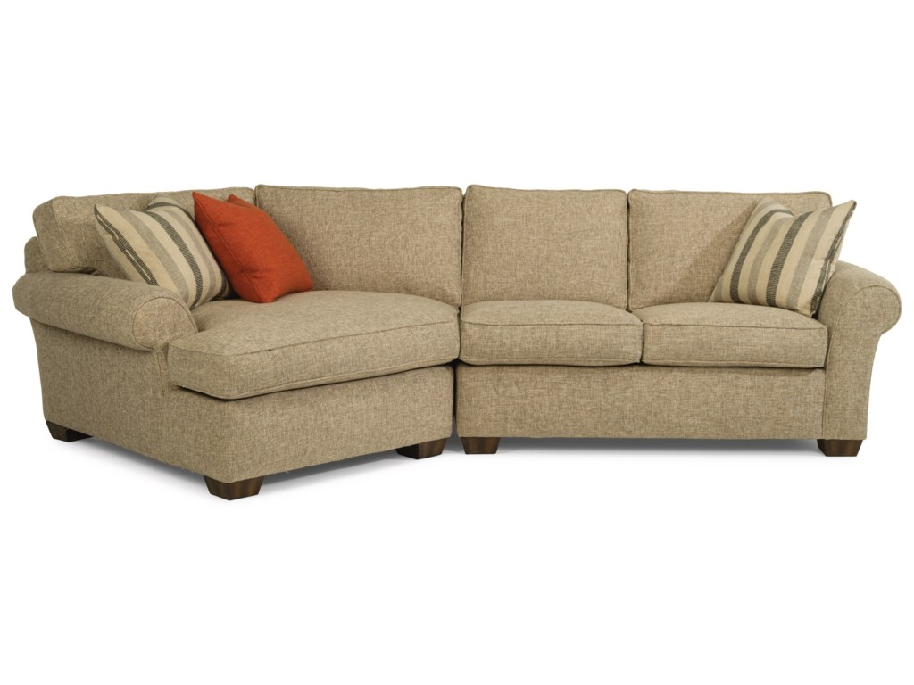 Flexsteel Vail2-Piece Sectional with LAF Angled Chaise