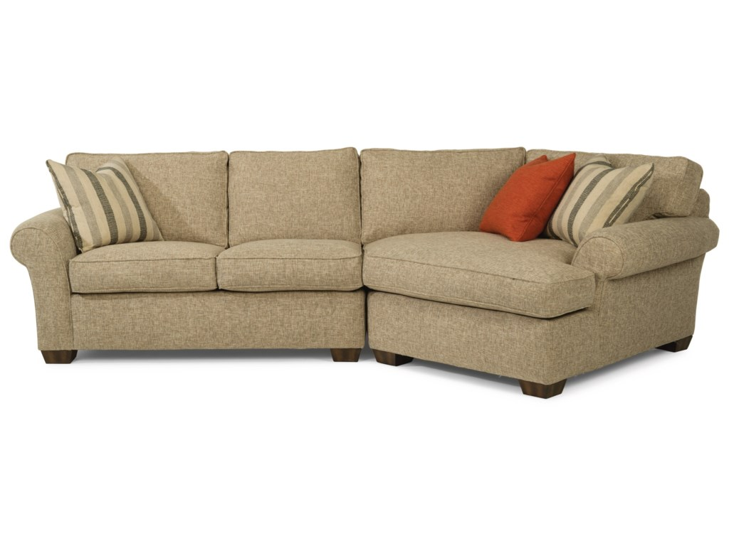 Flexsteel Paige2-Piece Sectional with RAF Angled Chaise
