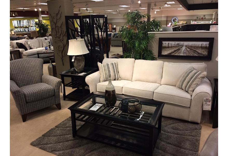 Flexsteel Vail 91 Three Cushion Sofa