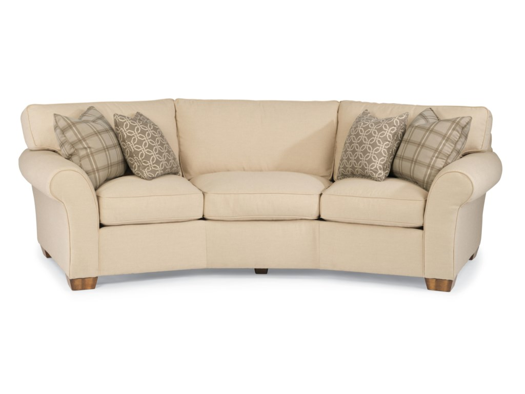 Flexsteel Vail 7305 323 107 Conversation Sofa Dunk Bright Furniture Sofas