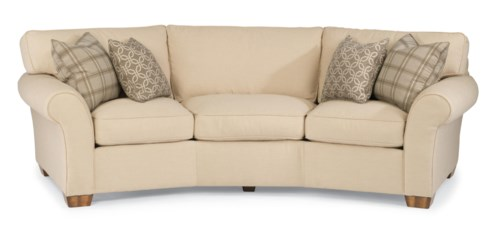 "Flexsteel Sofa Bed Mattress: Flexsteel Vail 107"" Vail Conversation Sofa"