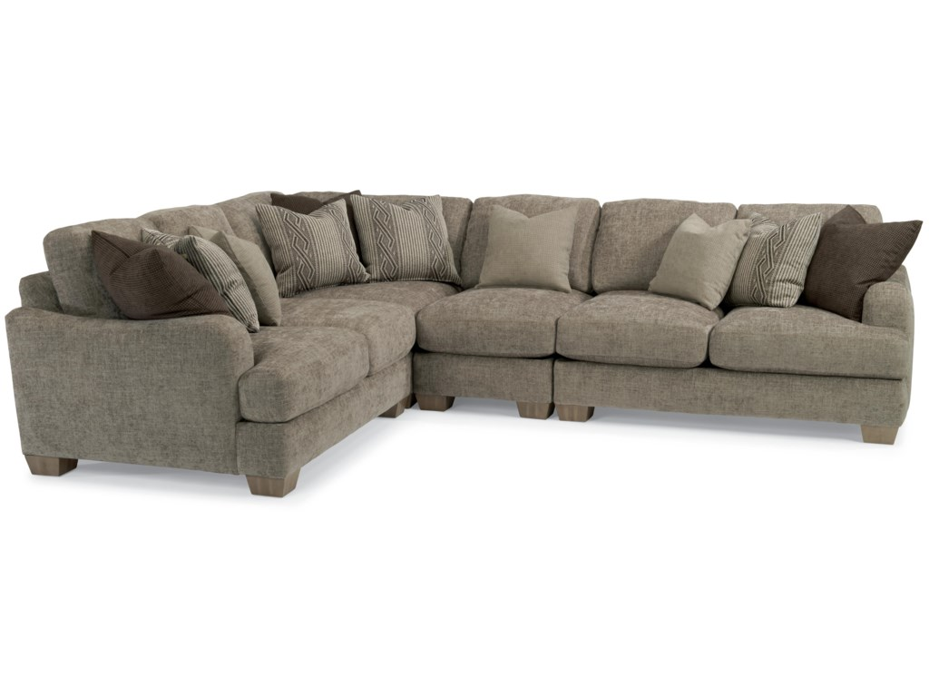 Vanessa Sectional Sofa With Loose Pillow Back By Flexsteel
