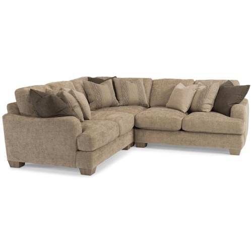Flexsteel Vanessa Sectional Sofa with Loose Pillow Back