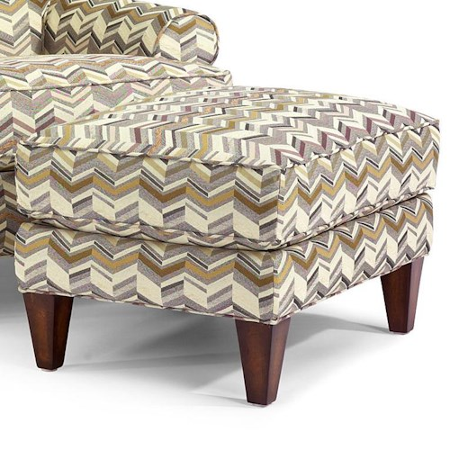 Flexsteel Venture Transitional Ottoman with Tapered Block Legs