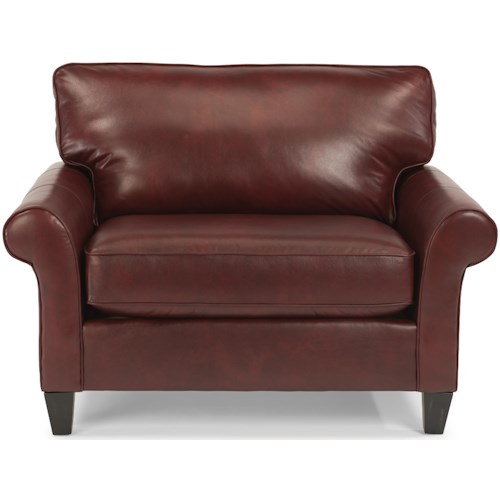 Flexsteel Westside Casual Style Chair and 1/2 with Rolled Arms