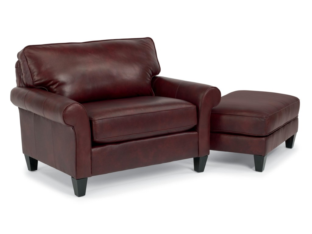 Flexsteel CassidyLeather Chair and 1/2