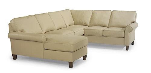 Flexsteel Westside Casual Style Sectional Leather Sofa