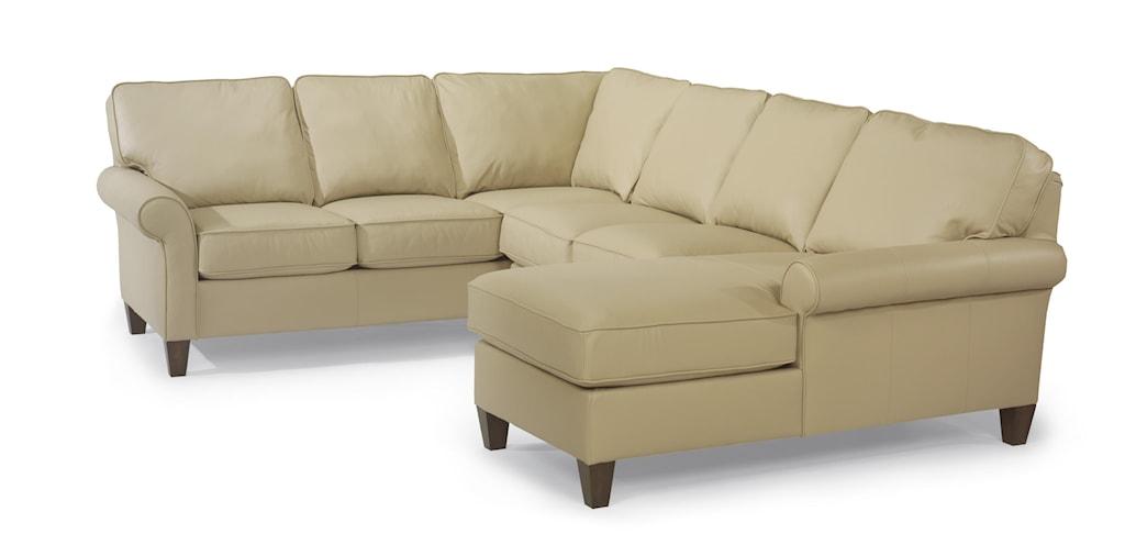 Flexsteel Westside Casual Corner Sectional Leather Upholstered