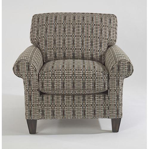 Flexsteel Westside Casual Style Rolled Arm Chair
