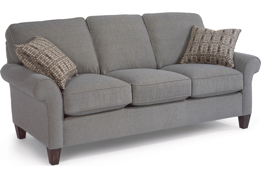 Westside Casual Style Sofa by Flexsteel at Dunk & Bright Furniture