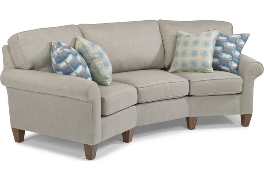 Westside Casual Style Conversation Sofa By Flexsteel At Dunk Bright Furniture