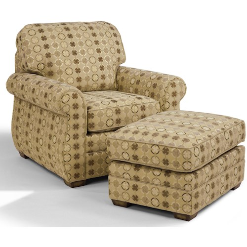 Flexsteel Whitney Chair and Ottoman