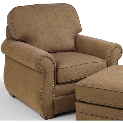 Flexsteel Whitney Chair with Rolled Arms