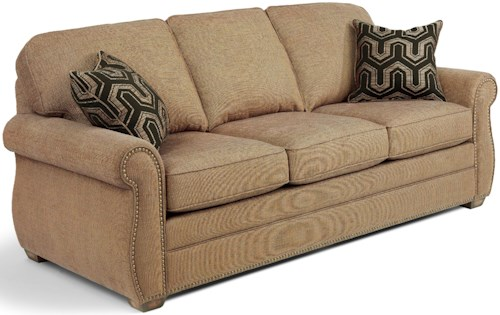 USUALLY SHIPS OUT WITHIN 5-7 BUSINESS DAYS. Whitney Sofa with Turned Arms and Wood Block Feet