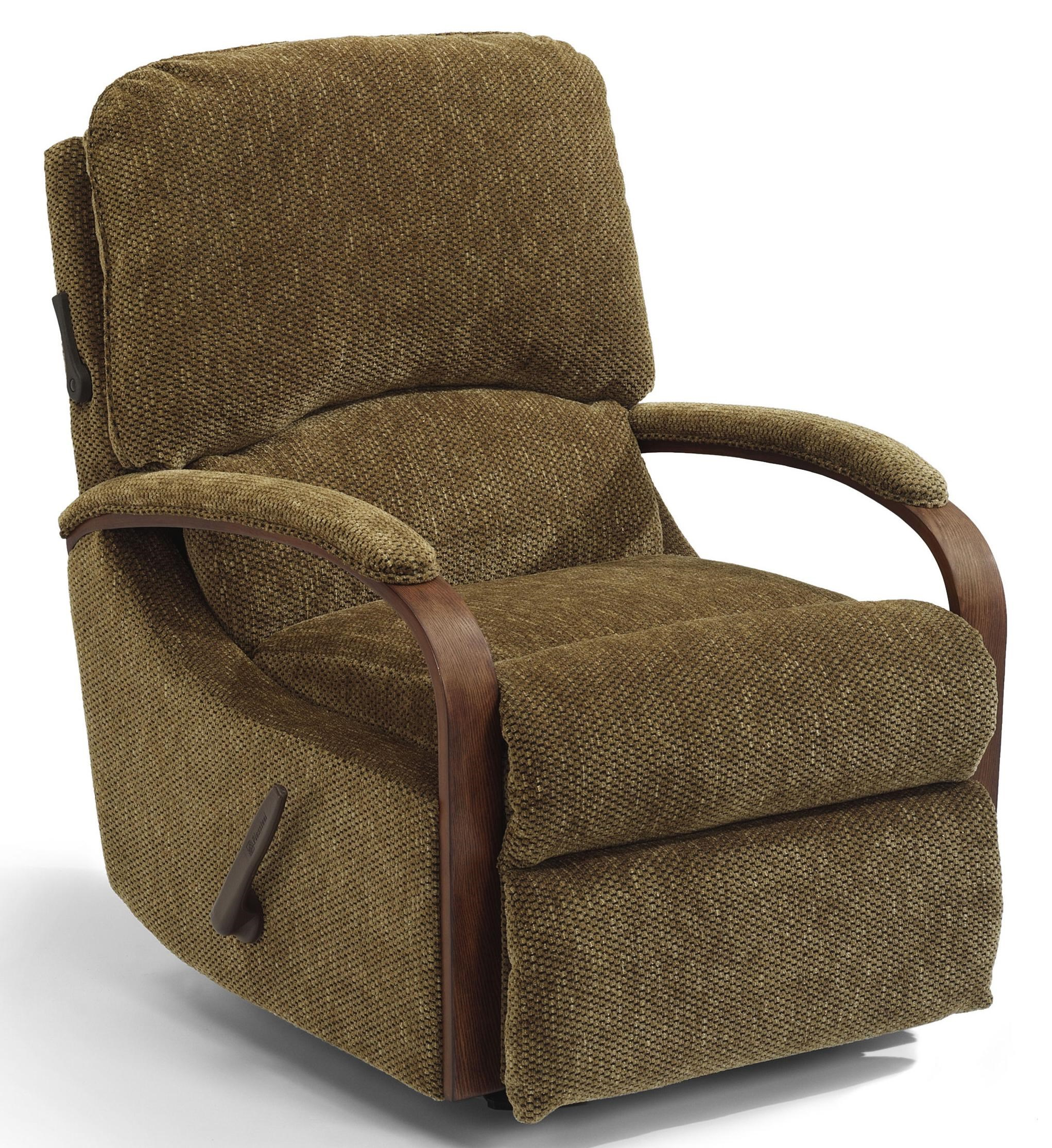 Exposed Wood Swivel Glider Recliner