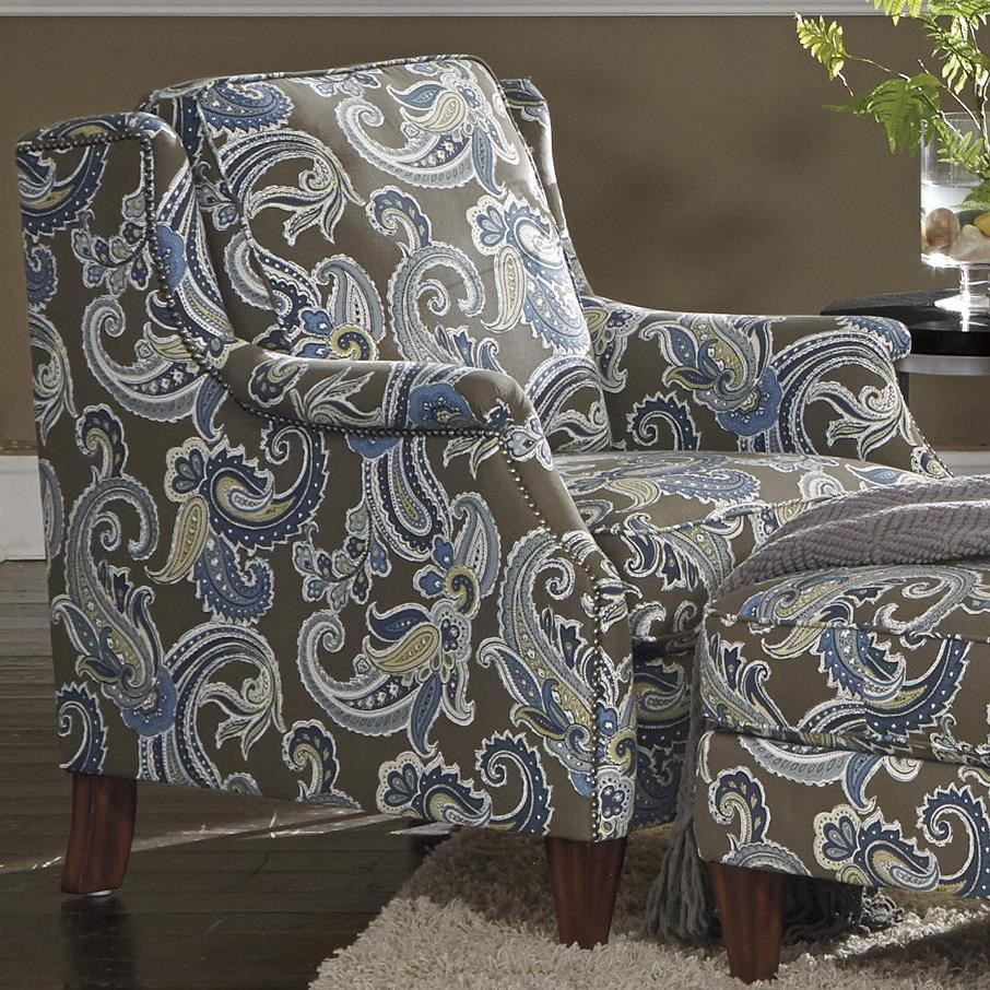 Flexsteel Jayne Transitional Chair With Slender English Arms And Nailhead  Border | Crowley Furniture | Upholstered Chairs