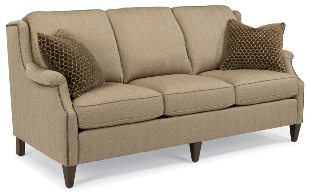 Flexsteel Zevon 5633 31 Transitional Sofa With Slender English  ~ What Is A Transitional Sofa