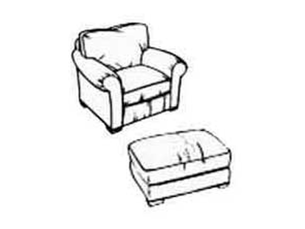 Flexsteel PaigeVail Chair and Ottoman