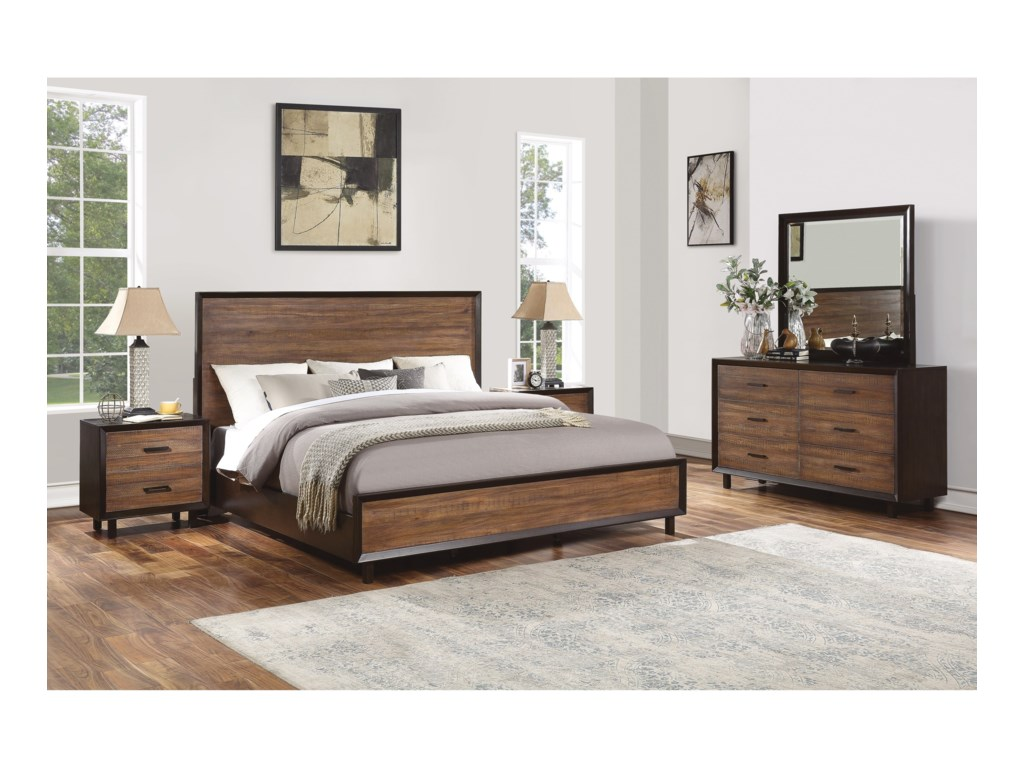 Flexsteel Wynwood Collection AlpineQueen Bedroom Group