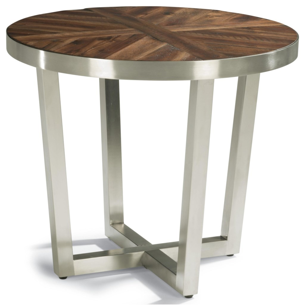 flexsteel wynwood collection axis contemporary lamp table with