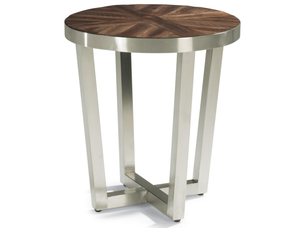 Wynwood, A Flexsteel Company AxisContemporary Chairside Table