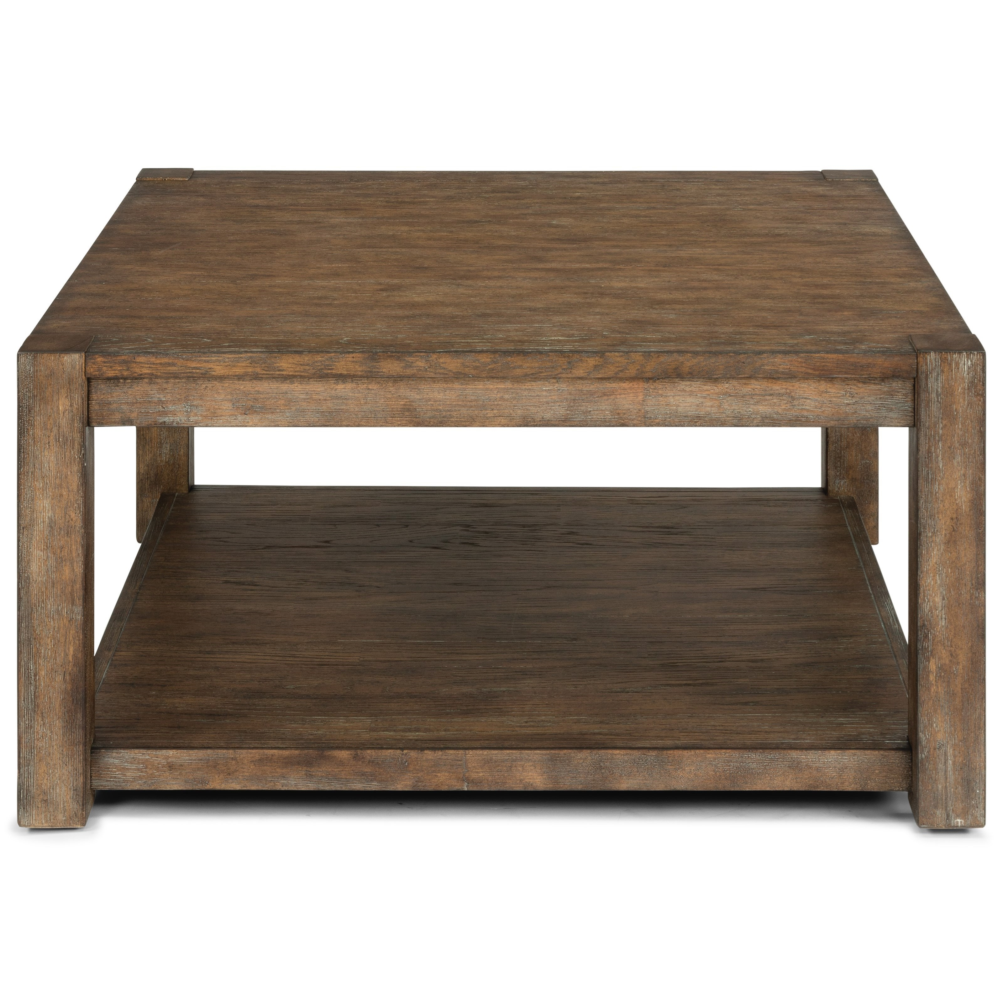 Casual Square Cocktail Table with Casters