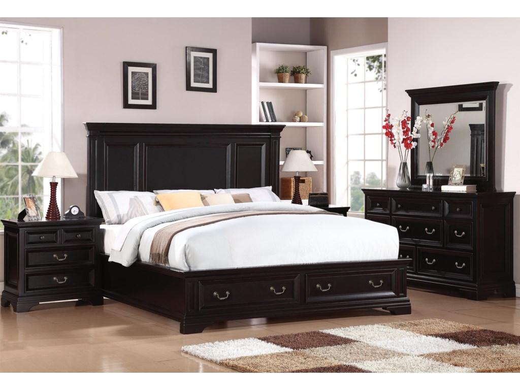 Flexsteel Wynwood Collection CamberlyCalifornia King Storage Bed