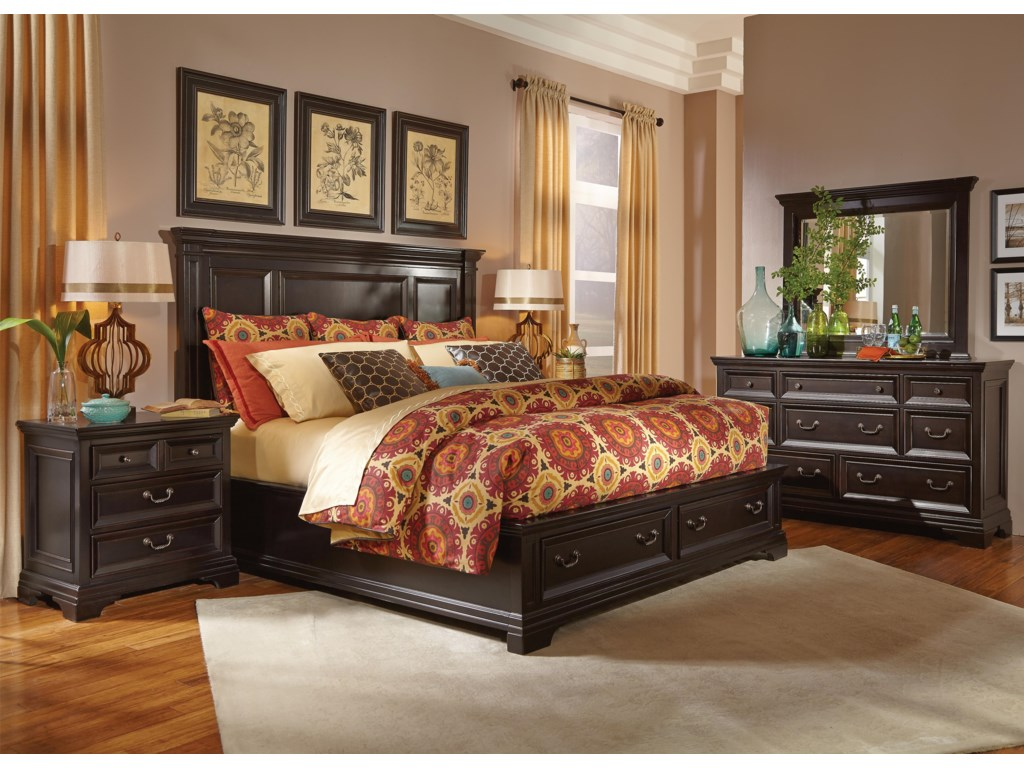 Flexsteel Wynwood Collection CamberlyKing Storage Bed