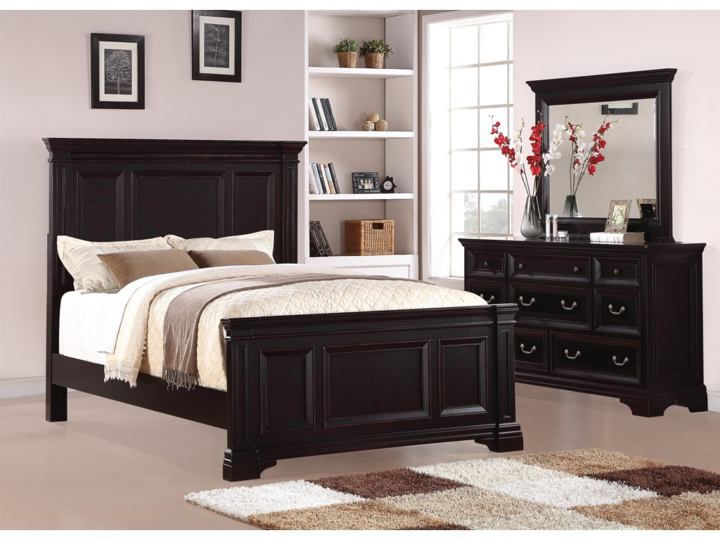 Flexsteel Wynwood Collection CamberlyQueen Panel Bed