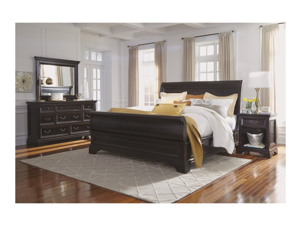 Flexsteel Wynwood Collection CamberlyQueen Sleigh Bed