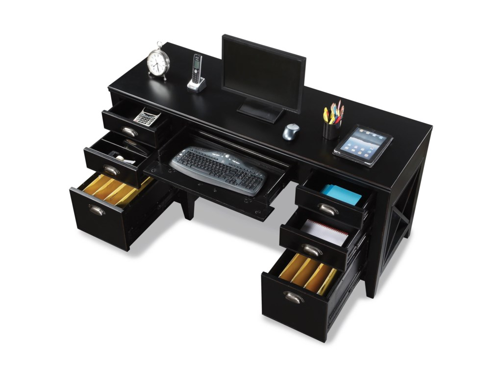 Flexsteel Wynwood Collection CamdenExecutive Desk