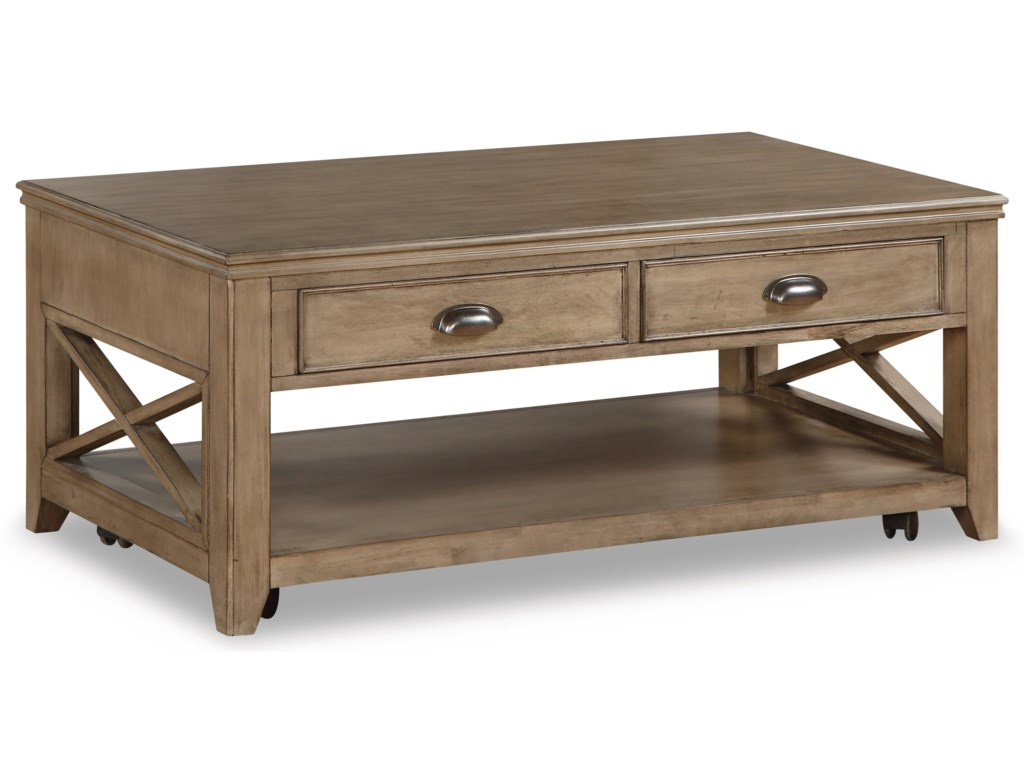 Wynwood, A Flexsteel Company CamdenCocktail Table with Casters