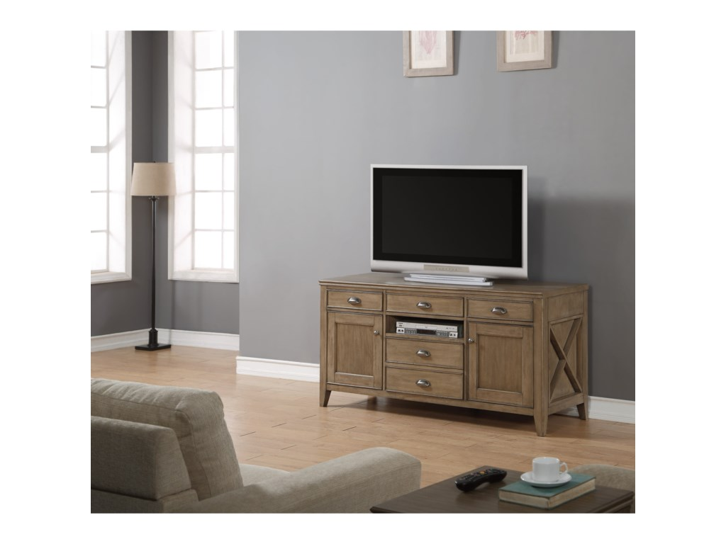 Flexsteel Wynwood Collection CamdenEntertainment Console