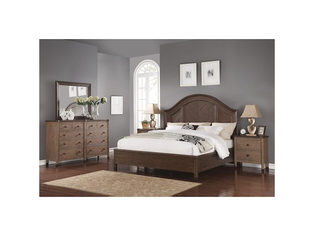 Wynwood, A Flexsteel Company CarmenQueen Bedroom Group
