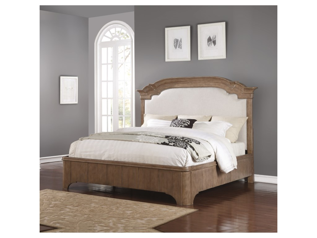 Wynwood, A Flexsteel Company CarmenQueen Upholstered Bed