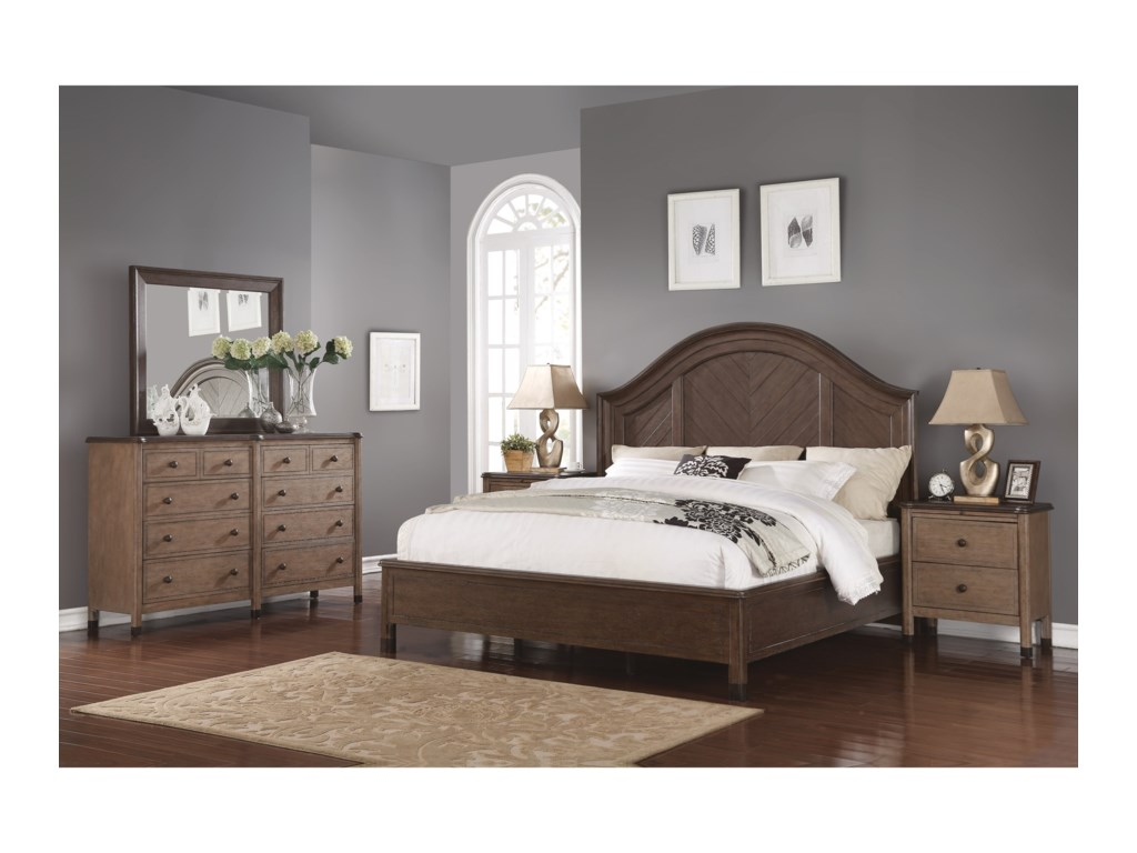 Flexsteel Wynwood Collection CarmenQueen Bed