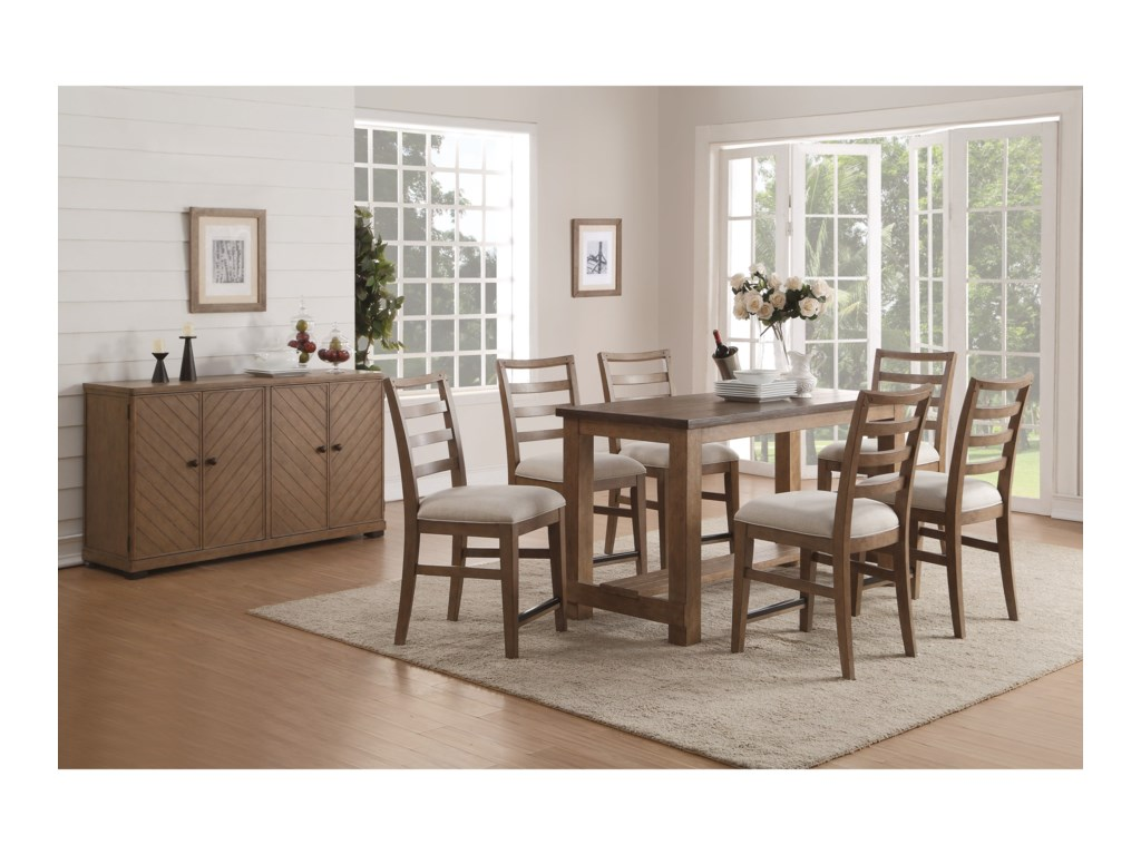 Flexsteel Wynwood Collection CarmenCounter Height Dining Room Group