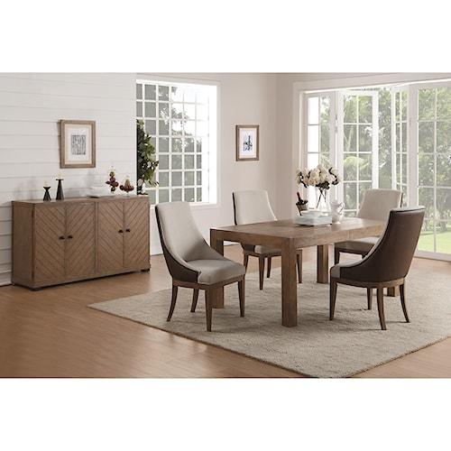 Flexsteel Wynwood Collection Carmen Formal Dining Room Group