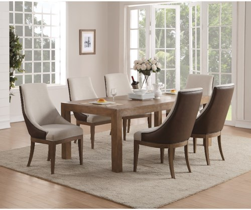 Flexsteel Wynwood Collection Carmen Contemporary Table and Chair Set