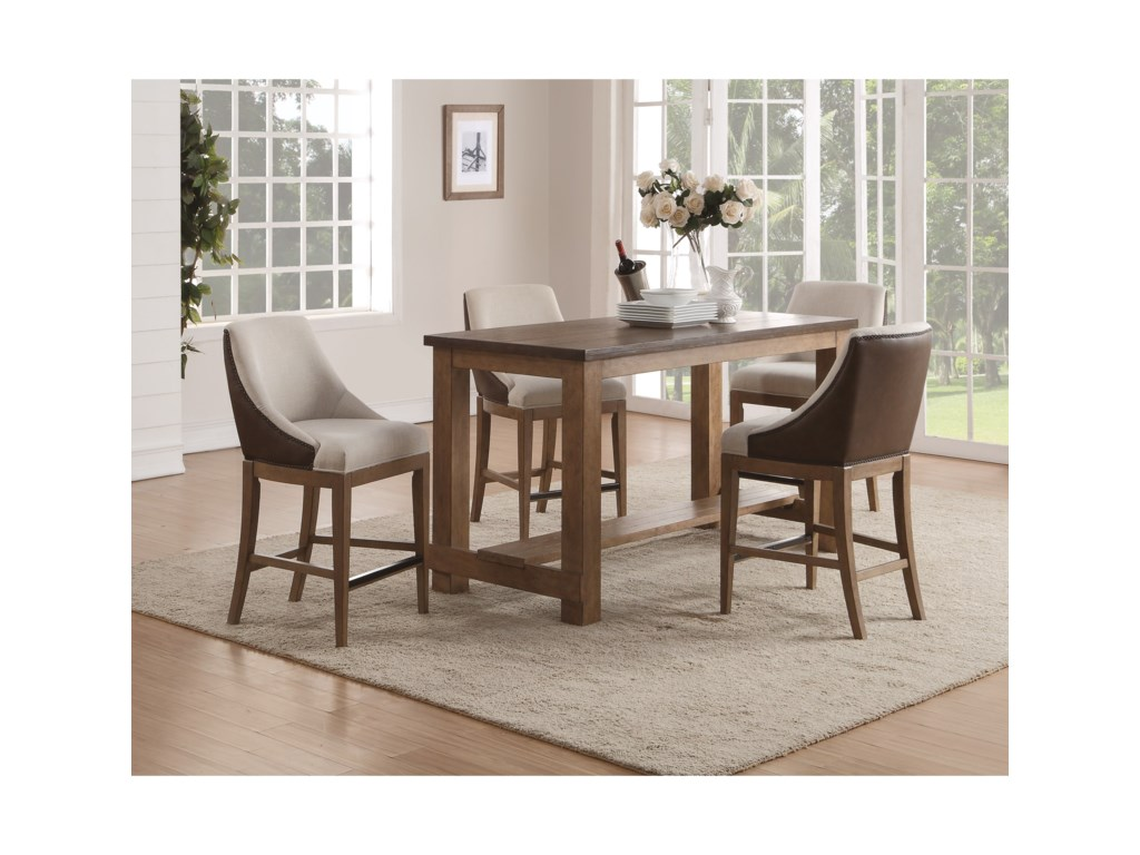 Flexsteel Wynwood Collection CarmenCounter Height Table and Chair Set