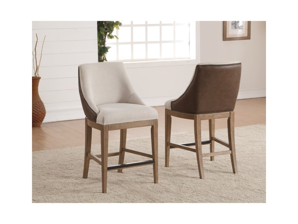 Wynwood, A Flexsteel Company CarmenUpholstered Counter Height Chair