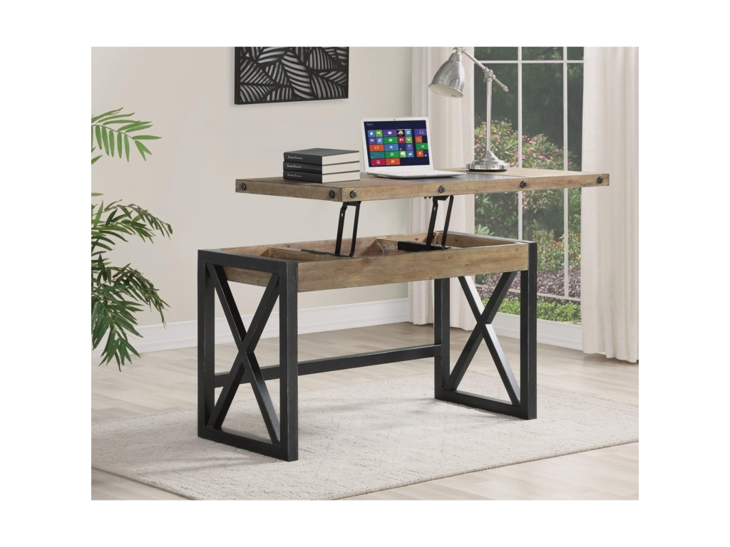 Flexsteel Wynwood Collection CarpenterLift-Top Desk
