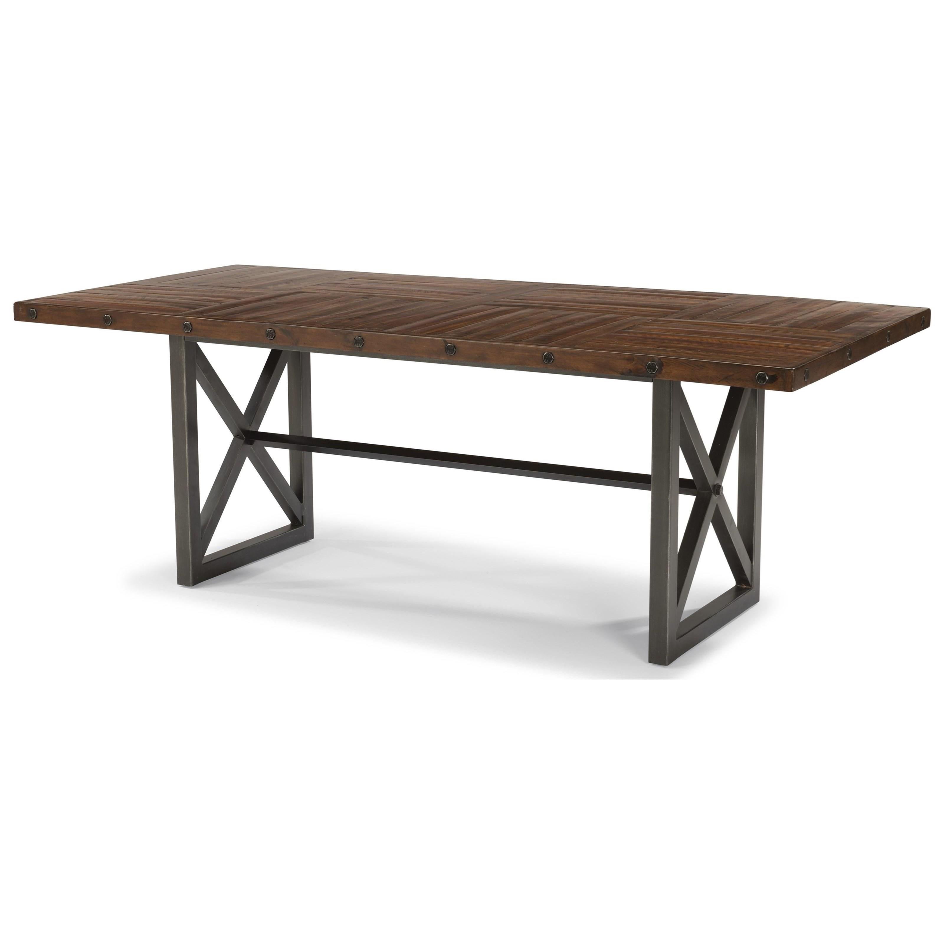 Flexsteel Wynwood Collection CarpenterAdjustable Height Rectangular Dining  Table ...