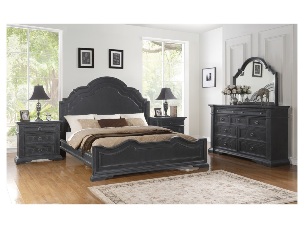 Wynwood, A Flexsteel Company CharlestonKing Bedroom Group
