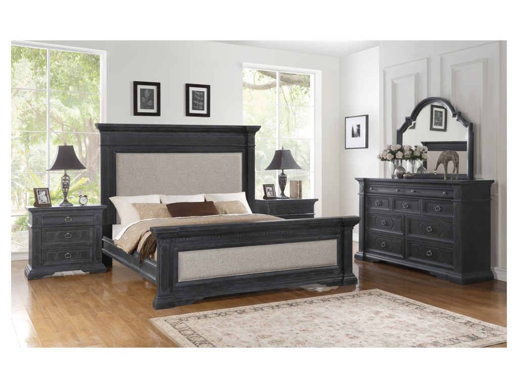 Wynwood, A Flexsteel Company CharlestonCalifornia King Upholstered Bed