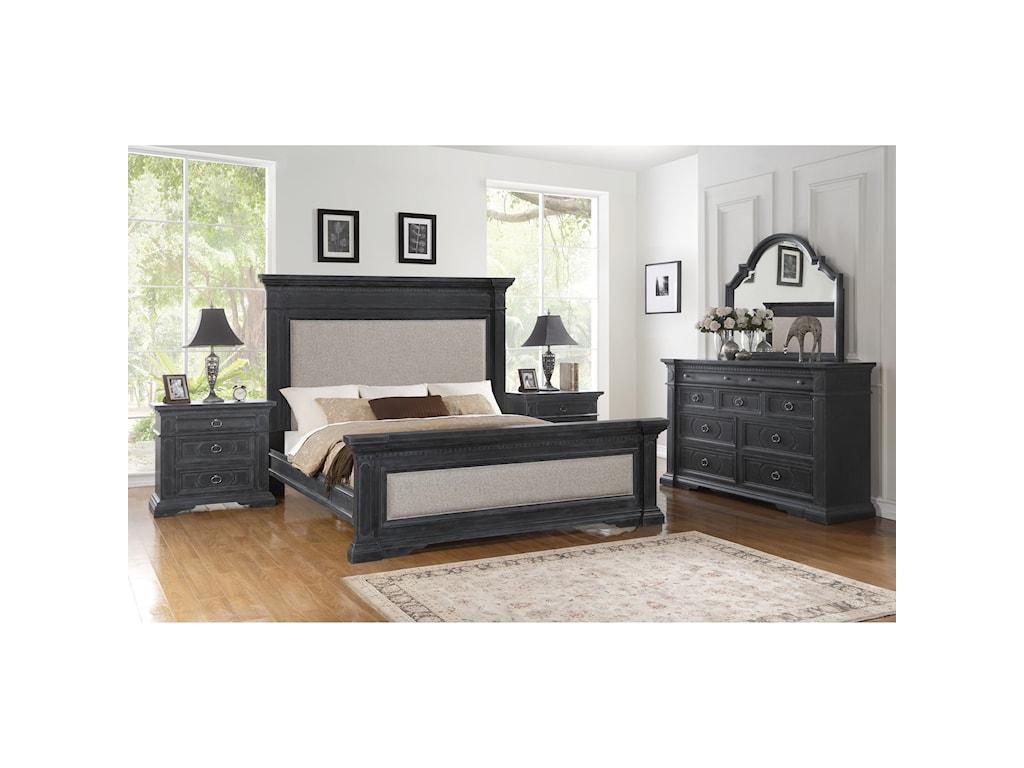 Flexsteel CharlestonKing Upholstered Bed
