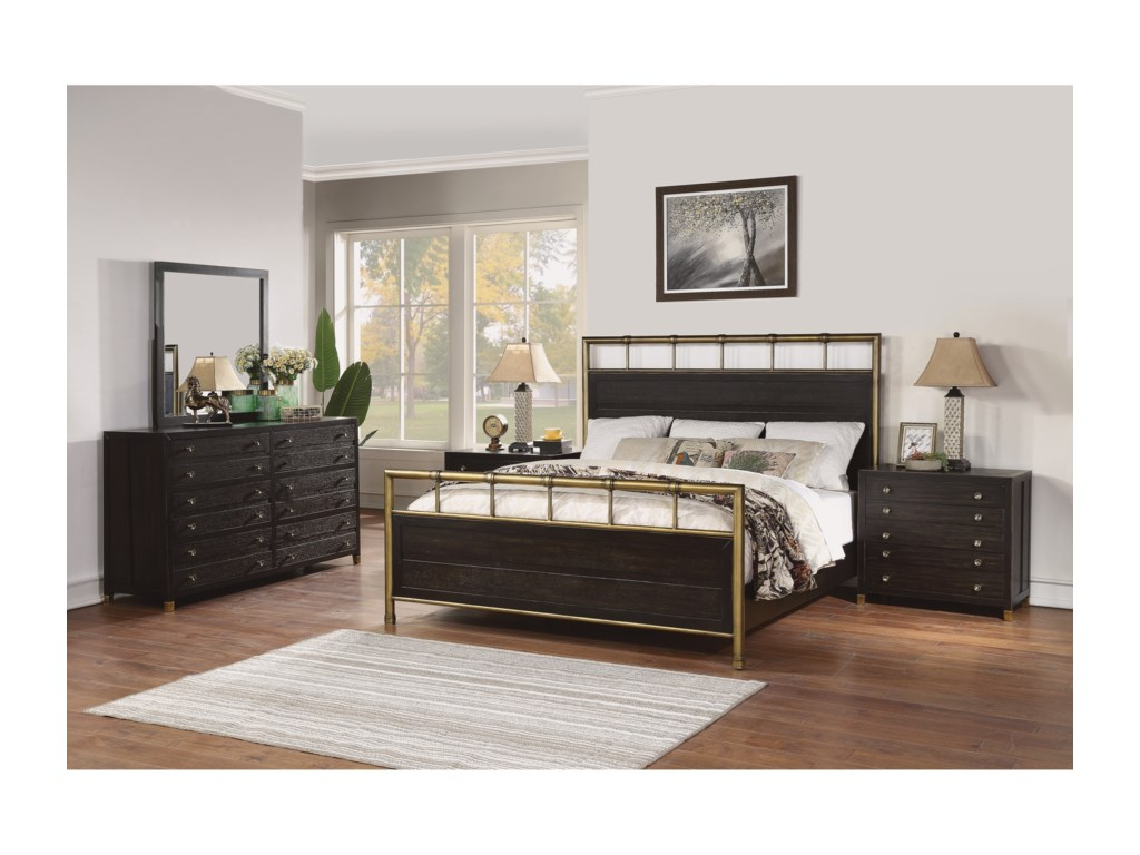 Flexsteel Wynwood Collection CologneKing Panel Bed