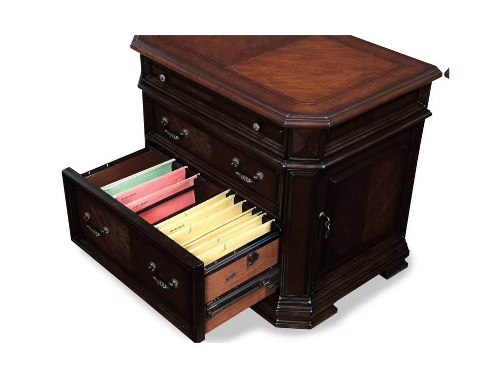 Flexsteel Wynwood Collection EastchesterTraditional Lateral File Cabinet